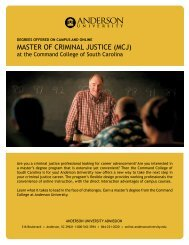 Download Brochure - Anderson University