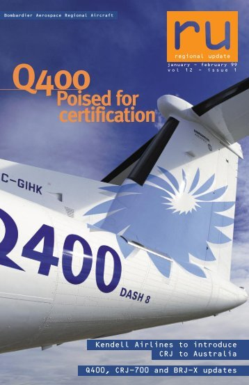 Q400 Poised for certification - Bombardier