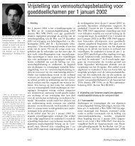 Vrijstelling van vennootschapsbelasting voor goeddoellichamen per ...
