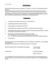 Protokoll vom 23. Mai 2012 - Grellingen