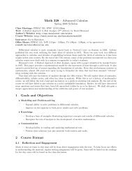 Math 328 – Advanced Calculus 1 Goals and ... - Moravian College