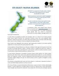 STS SELECT: NUOVA ZELANDA