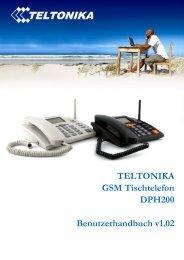 TELTONIKA GSM Tischtelefon DPH200 Benutzerhandbuch v1.02