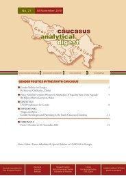 Gender Politics in the South Caucasus - Heinrich Boell Foundation