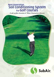 SubAir - Golf - Great Sports Infra