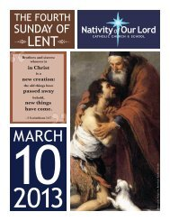 March 10, 2013 - Nativity of Our Lord Catholic Church