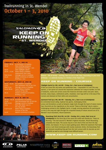 October 1 - 3, 2010 - KEEP-ON-RUNNING-ST. WENDEL