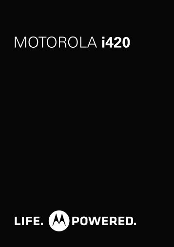 i420 Getting Started Guide - Motorola Support