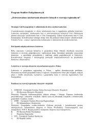 Szczegółowy opis przedmiotów - Stary serwis Wydziału Leśnego ...