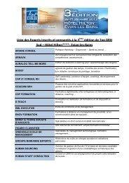 Liste des Experts inscrits et pressentis à la 3ème édition de Top ...