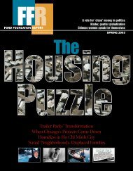 The Housing Puzzle - Ford Foundation