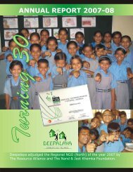 Deepalaya Annual Report 2007-2008