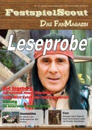 Leseprobe zur Ausgabe Nr. 10. - FestspielScout.de