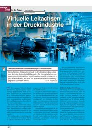 Virtuelle Leitachsen in der Druckindustrie