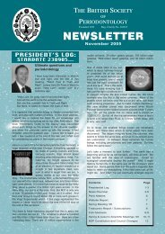 BSP News November 2005 - the British Society of Periodontology ...