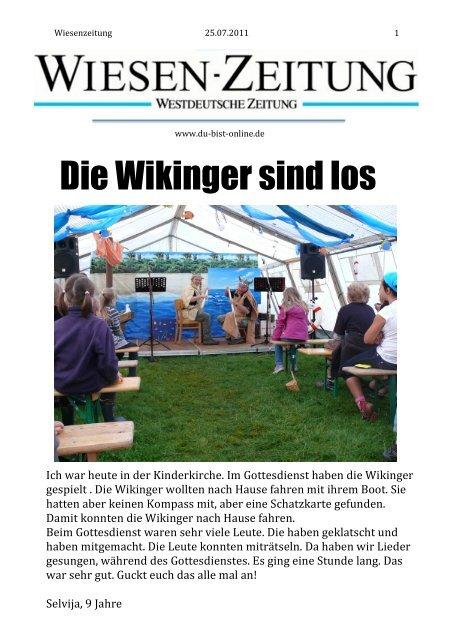 Montag 25.07.2011 - Du-bist-online.de