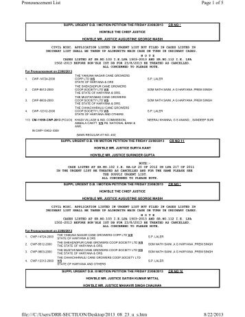 Page 1 of 5 Pronouncement List 8/22/2013 file:///C:/Users/DRR ...