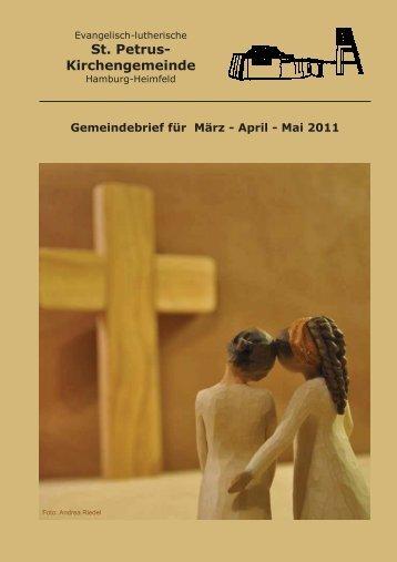 Gemeindebrief für März bis Mai 2011 - St. Petrus – Hamburg-Heimfeld