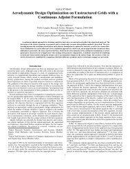 Aerodynamic Design Optimization on Unstructured Grids ... - NASA