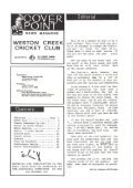 WESTON CREEK CRICKET CLUB Magazine - Page 3