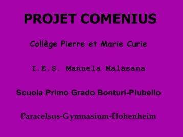 COMENIUS-PROJEKT - Paracelsus-Gymnasium-Hohenheim