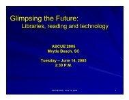 ASCUE-2005-Glimpsing the Future - SLIDES - Union College