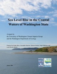 Sea Level Rise in the Coastal Waters of Washington State