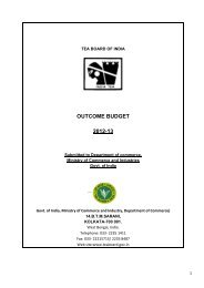 OUTCOME BUDGET 2012-13 - Tea Board of India