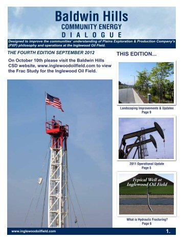 CSD PXP Newsletter 2012 page 1 ver5 - Inglewood Oil Field