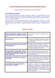 La valutazione scolastica nello scrutinio finale - Gilda Venezia