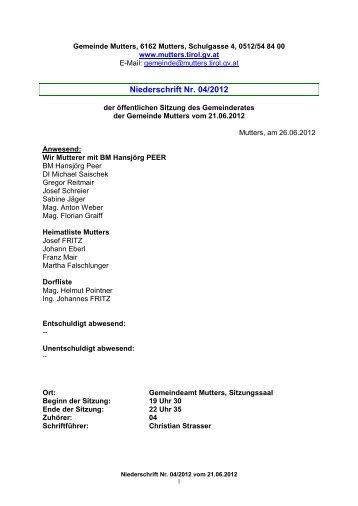 Protokoll vom 21.Juni 2012 (429 KB) - .PDF - Mutters