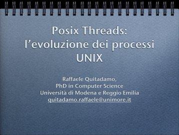 Lucidi del seminario sui POSIX threads - Agentgroup