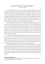 prezzolini e «la voce - Catalogo Informatico delle Riviste Culturali ...