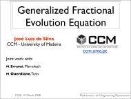 Generalized Fractional Evolution Equation - Universidade da Madeira