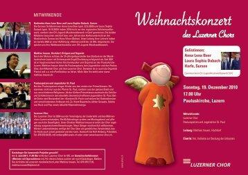 weihnachtskonzert201.. - Luzerner Chor