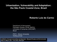 Urbanization, Vulnerability and Adaptation: the São Paulo ... - ICARUS