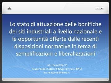 Laura D'Aprile - ARPA Umbria