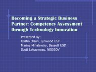 Competency Assessment through Technology Innovation - IPAC