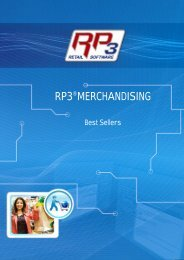 Best Sellers - RP3 Retail Software