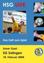 SG Solingen - HSG Düsseldorf