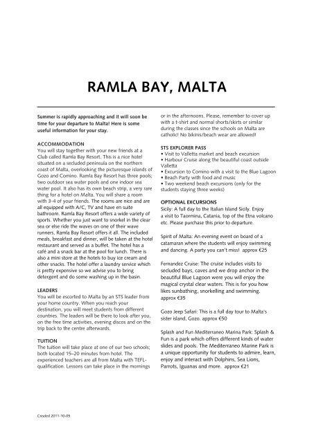 ramla bay, malta - STS