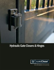 Hydraulic Gate Closers & Hinges - D&D Technologies
