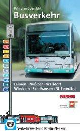 Fahrplanbroschuere - VRN Verkehrsverbund Rhein-Neckar