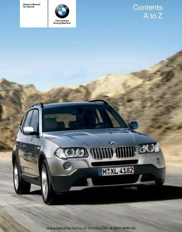 2008 X3 Owner's Manual - Irvine BMW