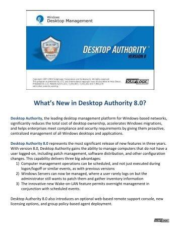 What's New in Desktop Authority 8.0?