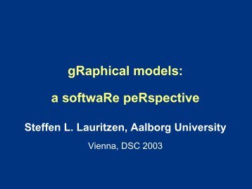 gRaphical models: a softwaRe peRspective - Working Group ...