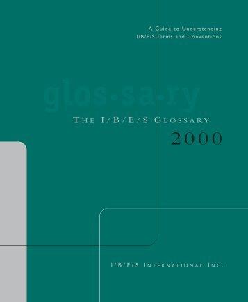 I/B/E/S Glossary - 2000 edition