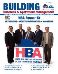 March 2013 BBAM Magazine - HBA of Southeastern Michigan