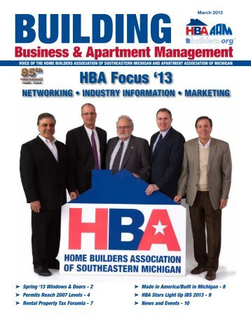 March 2013 BBAM Magazine - HBA of Southeastern Michigan