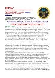 Corsi di formazione per istruttori di meditazione - simaiss